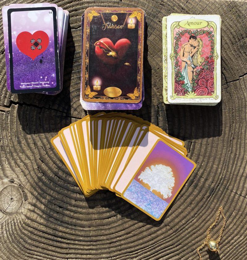 Cartes oracle sentimentales Aurélie Magnétique